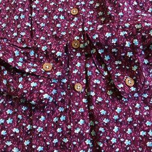 Anthropologie Tops - Anthropologie Maeve Calico Floral Buttondown EUC